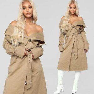 Tan trench Over Coat